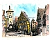 Rothenburg, Germany Watercolor, Pen and Ink by George Olson by George Olson