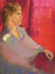 figurative paintings by Carolyn Hancock, Eloise at Dawn