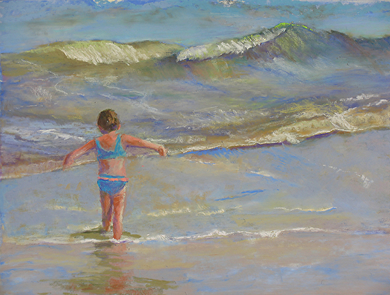 Flying with the Waves - Pastel