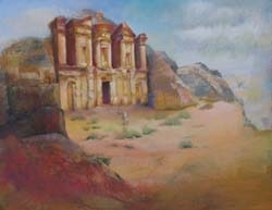 Final Painting of Petra by Carolyn Hancock