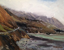 Lifting Fog, Big Sur by Jill Basham  ~ 16 x 20