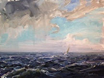 Chesapeake Squall by Jill Basham  ~ 12 x 16