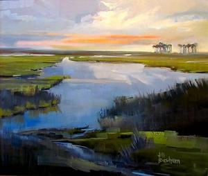 "Blackwater Dawn by Jill Basham Oil ~ 20"" x 24"""