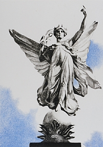 Angel in London by Helen Vaughn  ~ 7 inches x 5 inches
