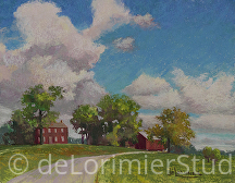 "OBGC Fields, Late Summer by Cathy de Lorimier Pastel ~ 11"" x 14"""