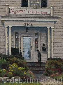 "Ricciutis at the Olney House by Cathy de Lorimier Pastel ~ 12"" x 9"""