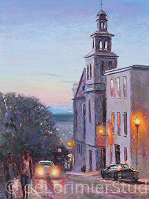 "City Lights by Cathy de Lorimier Pastel ~ 16"" x 12"""