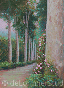 "Finding My Path by Cathy de Lorimier Pastel ~ 14"" x 10"""