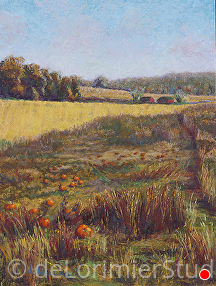 "Autumn Fields by Cathy de Lorimier Pastel ~ 16"" x 12"""