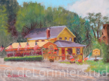 "Olney Ale House by Cathy de Lorimier Pastel ~ 9"" x 12"""