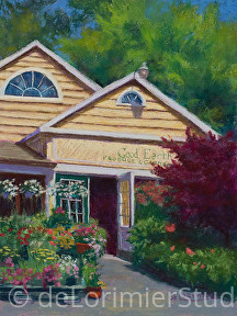 "Good Earth in Bloom by Cathy de Lorimier Pastel ~ 12"" x 9"""