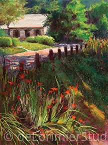 "Old Stones in Brookeville by Cathy de Lorimier Pastel ~ 16"" x 12"""