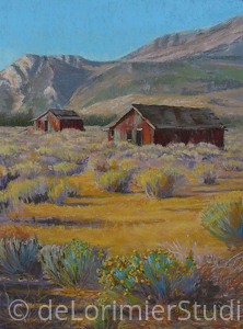 "Simplicity and Sagebrush by Cathy de Lorimier Pastel ~ 16"" x 12"""