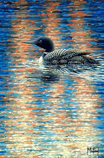 """Diamond Light II - Loon"" - Acrylic"