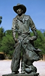 Cowboy by Buck McCain Bronze ~ 6.4' x 2.7'