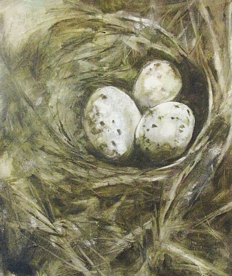 The Nest by Donna Thomas Mixed Media ~ 24 x 20