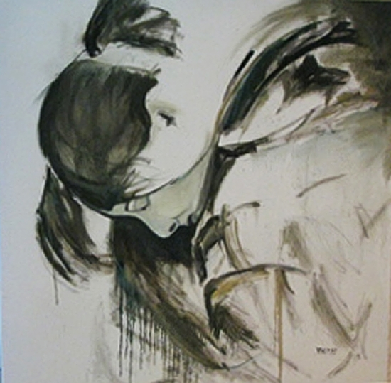She's Come Undone by Donna Thomas Oil ~ 48 x 48