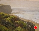 Foggy Morning Shoreline by Dotty Hawthorne Pastel ~ 10.5 x 13.5