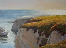 Late Day Light in Shell Beach by Dotty Hawthorne Pastel ~ 12 x 16.25
