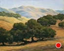 Golden Hills of Varian Ranch by Dotty Hawthorne Pastel ~ 11 x 14