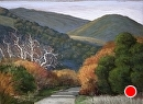 Avila Valley Winter by Dotty Hawthorne Pastel ~ 15 x 20 (image)
