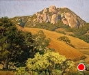 Bishop Peak Morning by Dotty Hawthorne Pastel ~ 18 x 22
