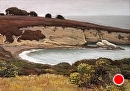 Cove at Montana de Oro by Dotty Hawthorne Pastel ~ 14 x 20