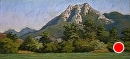 Magnificent Hollister Peak by Dotty Hawthorne Pastel ~ 10 x 22