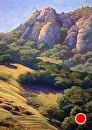 Early Light on Bishop Peak by Dotty Hawthorne Pastel ~ 22 x 16