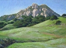 Bishop Peak in Winter by Dotty Hawthorne Pastel ~ 14 x 19.75(image)