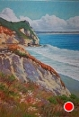 Avila Cliffs by Dotty Hawthorne Pastel ~ 18.75 (unframed) x 13.5