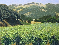 Vineyard Summer, pastel