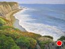 Shell Beach Shoreline by Dotty Hawthorne Pastel ~ 21.5 (image size) x 16