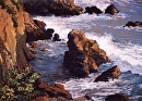 Cayucos Cliffs by Dotty Hawthorne Pastel ~ 18 x 24