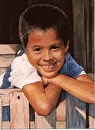 Costa Rican Boy by Dotty Hawthorne Pastel ~ 14 x 11