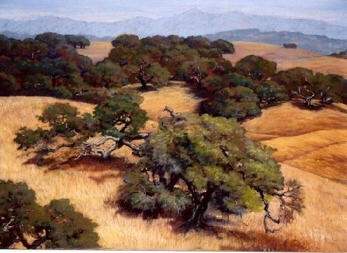 Varian  Ranch Oaks by Dotty Hawthorne Limited Edition Giclee Print ~ 21 x 28