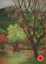 Fog at Santa Marguerita Lake by Dotty Hawthorne Pastel ~ 22 x 17