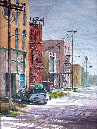 SOUTH ALLEY STREET - Watercolor