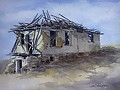 TERLINGUA MINE SHACK by Tina Bohlman Watercolor ~ 10 x 8