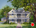 FOWLER HOME - 201 E UNIVERSITY by Tina Bohlman Watercolor ~ 16 x 20
