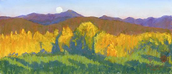 Hunter Moon at Sunset - Pastel