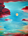"""Red Rock Creation by Bettina Star-Rose Oil ~ 24"""" x 18"""""""