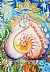 "Oneness Heart by Bettina Star-Rose Pastel ~ 16 1/2"" x 11 5/8"""