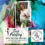 Bettina Star-Rose - Bettina Paints Live - at Ross Haven Art Gallery