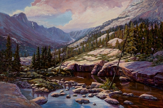 Glacier Gorge View of Long's Peak - Oil