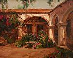 San Juan Capistrano by Carole Mayne Oil ~ 12 x 16