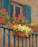Pansies and Geraniums by Carole Mayne Oil ~ 10 x 8