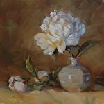 not here...Here! by Carole Mayne Oil ~ 6 x 6