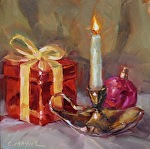 The Light of my Life is You by Carole Mayne Oil ~ 6 x 6
