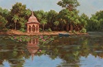 Temple Near Bharatpur, India by Carole Mayne Oil ~ 12 x 18